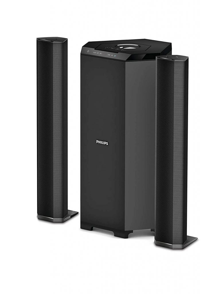 Philips Audio MMS8085B94 80W 2.1 Channel Convertible USB Multimedia Speaker System