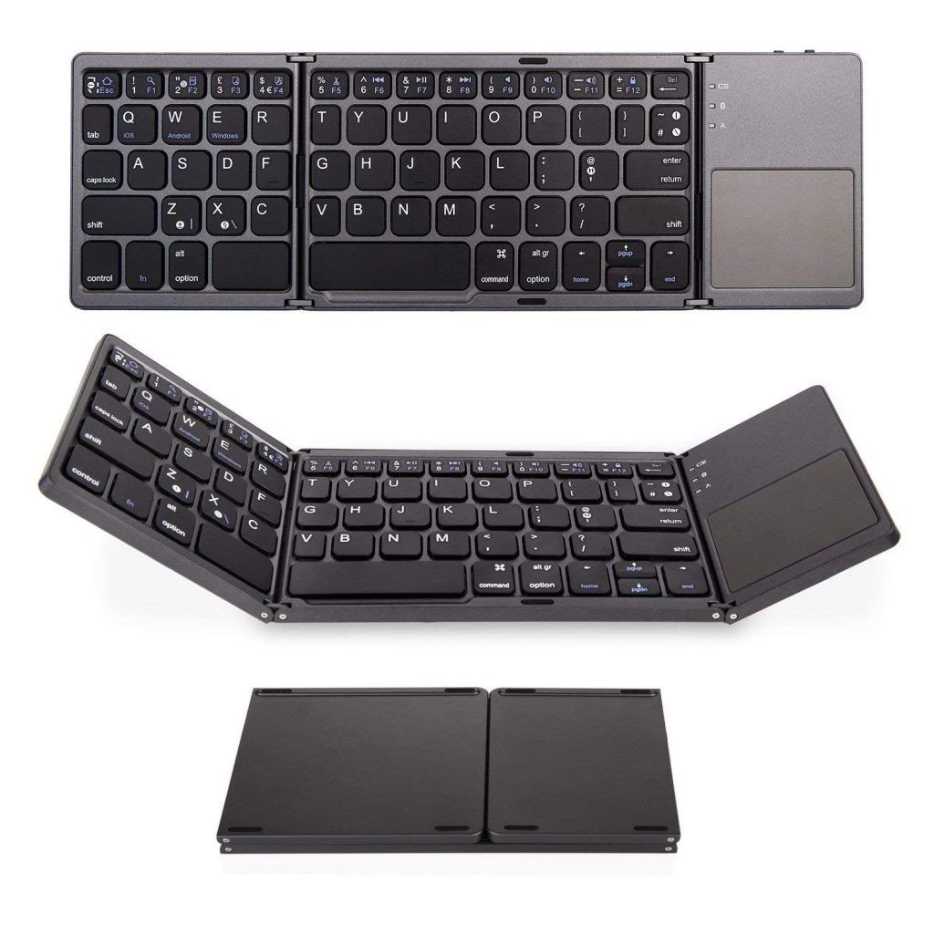 Saco Foldable Bluetooth with Touchpad Wireless Keyboard