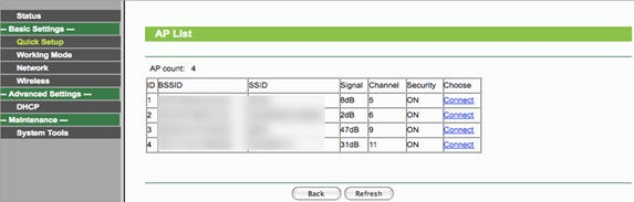 Configure Tp link repeater mode